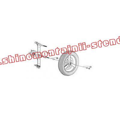Адаптер для работы с мотоциклетными колесами OMA V1116 (40 мм)