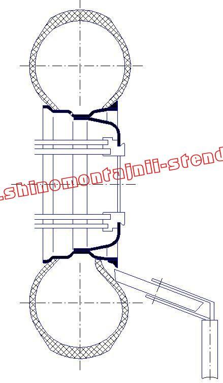 Демонтаж колеса с разборным (плоским) ободом
