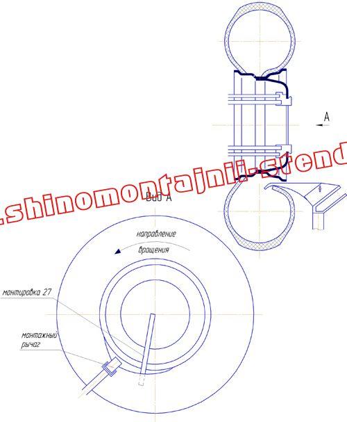 Демонтаж колеса с неразборным ободом (колеса сельскохозяйственных машин)